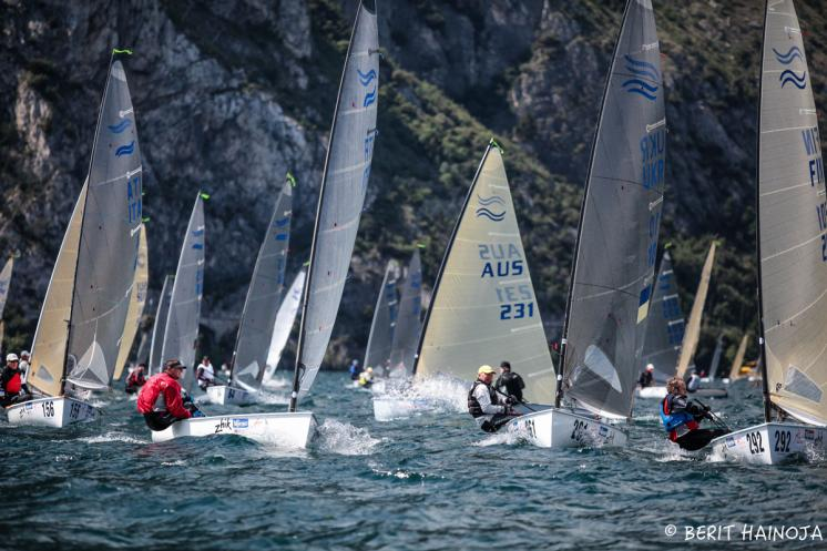 Perfect conditions launch 2016 Finn World Masters