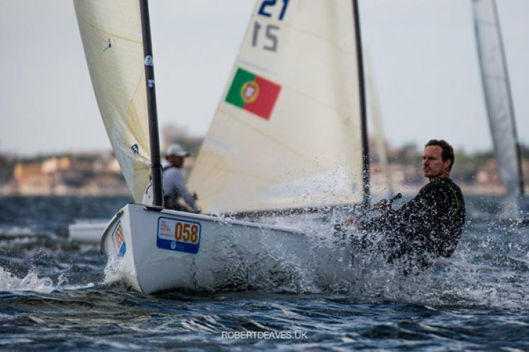 Valerian Lebrun leads after Finntastic opening day of Finn World Masters